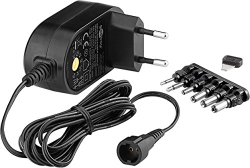 Netzteil 1000ma 12v (Goobay 59033 3-12V Universal-Netzteil mit max. 12W / 1000mA inkl. 6 Adapterstecker DC schwarz)