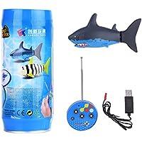Mini Tiburón de Tuguete de Control Remoto Eléctrico RC Tiburón de Juguete para Niños con Cable USB