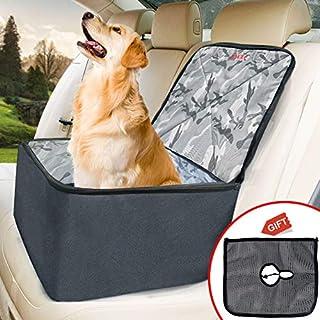 WLZP Hunde Autositz, 3 in 1 Autositz für Hunde, Heimtierbedarf, Rutschfester, Wasserdichter Einzelsitz, Verstärkung für Haustiere Hundekatze, Geschenk: Einstellbar Intercept Mesh