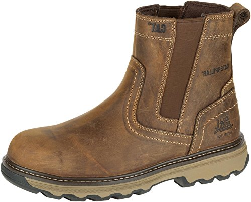 Men's Caterpillar Safety Boots Wide Fit Pelton Rigger Boots - 7069 (10,...