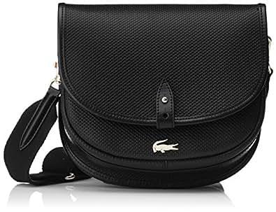 c6c77601efa7fb Lacoste Women NF2117CE Cross-Body Bag Black Black (Black 000 ...