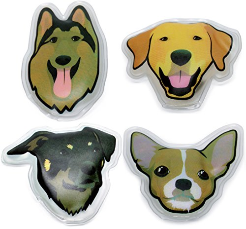 Handwärmer Wiederverwendbar, Taschenwärmer Set 4er Pack Hunde Motiv