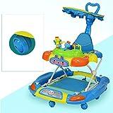 LFY Baby Walker Blue mit Schiebegriff und Sonnenschirm