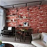 La carta da parati strutturata del mattone d'annata moderno per le pareti ha impressionato i rotoli di carta della parete 3D per il fondo del sofà TV del salone della camera da letto, 300 * 210