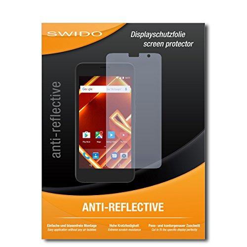 SWIDO Schutzfolie für Archos Access 50 [2 Stück] Anti-Reflex MATT Entspiegelnd, Hoher Härtegrad, Schutz vor Kratzer/Bildschirmschutz, Bildschirmschutzfolie, Panzerglas-Folie