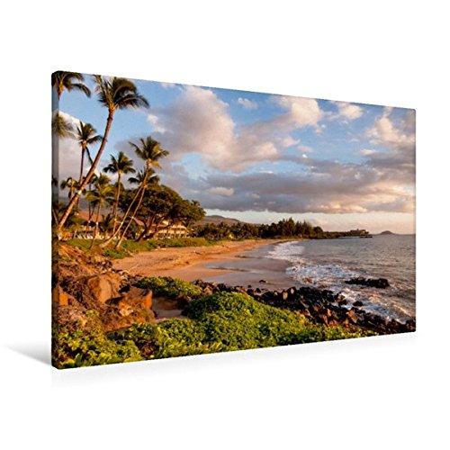 Preisvergleich Produktbild Premium Textil-Leinwand 90 cm x 60 cm quer, Kihei Beach - Maui Hawaii | Wandbild, Bild auf Keilrahmen, Fertigbild auf echter Leinwand, Leinwanddruck (CALVENDO Orte)