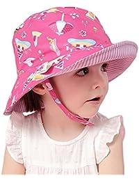 Arcweg Cappello di Protezione Solare Bambino 50+ UPF Tesa Larga Cappello da  Sole per Bambini 100% Cotone… ff05f67be33f