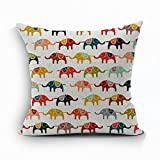 Nunubee Animal Cushion Cover Bed Pillowcase Soft Decorative Pillow Cover Elephant