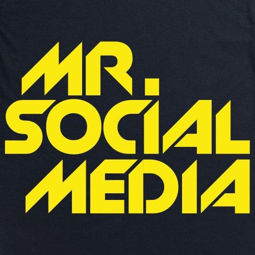 Mr Social Media T-shirt, Uomo Nero