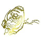 Wandtattoo Logo Wildschweinborsten selbstklebend–mehrere Farben erhältlich–20x 15 Gold