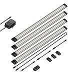 parlat LED Unterbau-Leuchte Siris, Infrarot-Sensor, flach, je 50cm, 400lm, warm-weiß, 4er Set