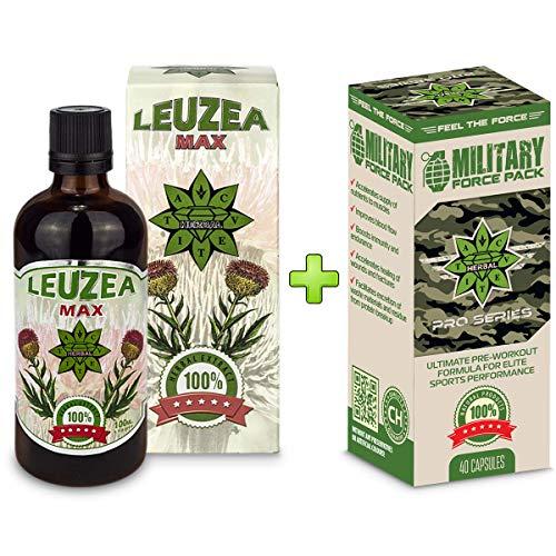 Leistungsstarke Antioxidantien-formel (Cvetita Herbal, Leuzea Carthamoides/Rhaponticum Carthamoide + Military Force Combo-Paket)