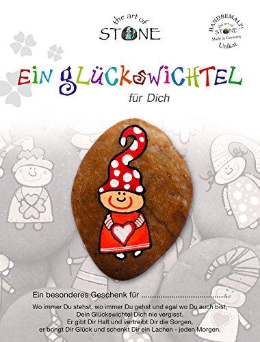 The Art of Stone Glückswichtel für Dich Serie 5 - Motiv 07 -Stein Handbemalt - Unikat - Glücksbringer als Geschenk und Talisman