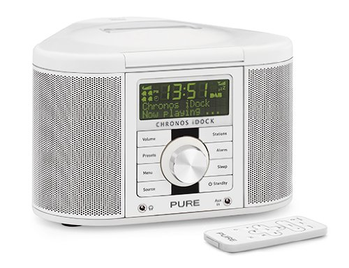 I Radiowecker (DAB/DAB+/Stereo-UKW-Tuner, Apple iPod-Dock) weiß (Ipod Dock Cd Player Stereo)
