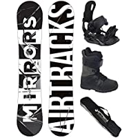 AIRTRACKS Snowboard Set / Tabla Mirrors Wide 152 + Fijaciones Star + Botas Star Black 44 + Sb Bolsa