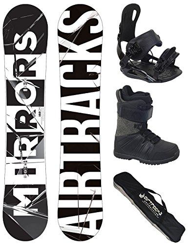 AIRTRACKS SNOWBOARD SET - WIDE BOARD MIRRORS WIDE 152 - SOFTBINDUNG STAR - SOFTBOOTS MASTER QL 42 - SB BAG