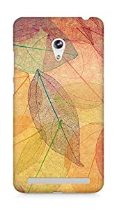 Amez designer printed 3d premium high quality back case cover for Asus Zenfone 6 (Rainbow color leaf art fall nature pattern)