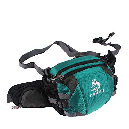 Outdoor peak Unisex Nylon wasserabweisend Multifunktions-Tasche Messenger Bag Gürteltasche Fahrradrucksäcke weich Reisetasche Sportrucksack Camping Grün