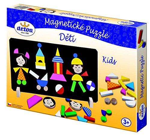 Detoa, Jeux En Bois   Puzzle Magnètique: Les Enfants