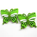 zhanyue embellishmen upick 24Gepolsterte Filz Colorful Schmetterling Applikationen Hochzeit Craft grün