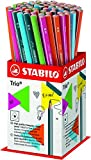 STABILO Trio - Pot de 72 crayons graphite triangulaires HB - Coloris assortis