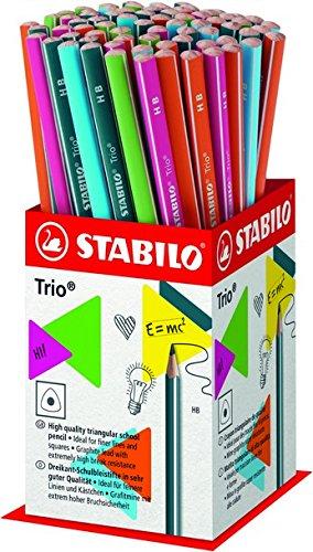 Stabilo trio matita in grafite hb colori assortiti - espositore da 72