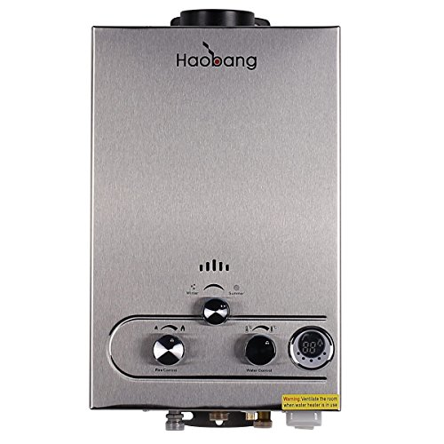 Preisvergleich Produktbild Haobang Gas tankless Warmwasserbereiter Patentierte Modulating Technologie JSD12-S02 LPG 2800Pa - Propan oder Butan