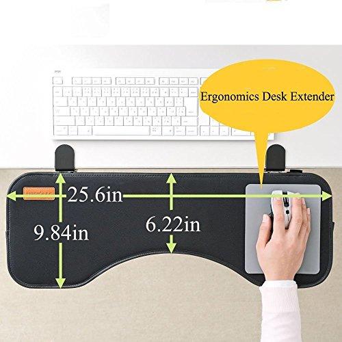 Yanghx Ergonomische Tastatur-Handgelenkauflage mit Maus-Pad - Erweiterungs-Tablett für kleine Schreibtische -