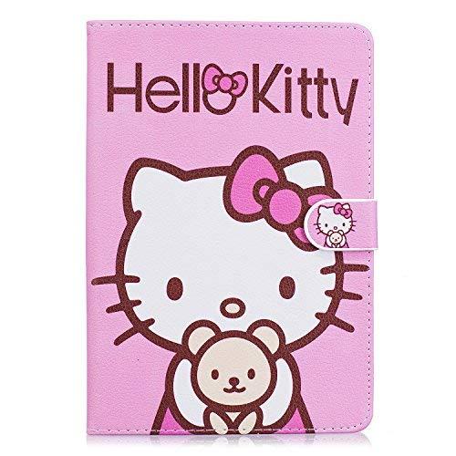 iPad Mini Fall, Phenix-Color Hello Kitty Design Premium Flip Ständer PU Leder Hard Case für Apple iPad Mini 1/2/3+ Gratis Displayschutzfolie #02 (Ipad Hulk Case 3)