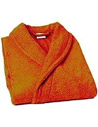 Home Basic Kids - Albornoz con capucha para niños de 10 años, color naranja