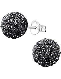 Monkimau colourful glitter disco ball earrings, 925 sterling silver stud earrings, unisex earrings, women's jewellery, woman, children's jewellery, girls, earrings, gifts.
