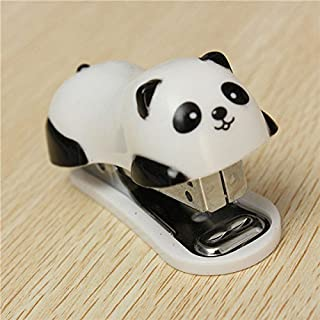 ADAALEN Cute Panda Mini Desktop Stapler And Staples Hand Stapler Office Home Stapler