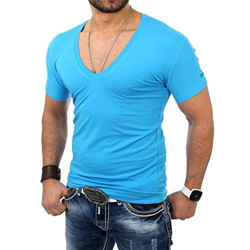 Reslad Herren V-Neck T-Shirt RS-5052 Türkis