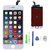 iPhone 6 Screen Replacement Kit, iPoint & Repair LCD Touch Screen Replacement Digitizer Full Set with Repair Tools Kit For iPhone 6 - White