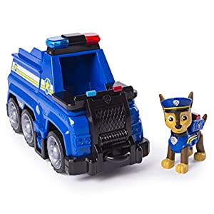 PAW Patrol Ultimate Rescue — Chase's Ultimate Rescue Police Cruiser with Lifting Seat and Fold-out Barricade, for Ages 3 and Up