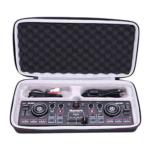 LTGEM EVA Hard Case Hülle für Numark DJ2GO2 - Ultra-portabler 2-Kanal DJ Controller für Serato DJ Intro - Reiseschutz-Aufbewahrungstasche