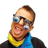 Oblique-Unique® Augenbrille Gagbrille Pop Out Fasching Karneval Kinder Brille