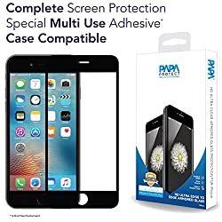 iPhone 6S Plus / 6 Plus Papa Protect Edge to Edge Full Coverage HD Ultra Clear Armored Glass | 3D Touch Compatible | Case Compatible | Anti Scratch | 0.3mm Ultra Thin Rounded Edges | 9H Hardness | Oleophobic Coating | Life Time Warranty | Black