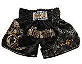 FLUORY Pantaloncini Muay Thai, MMA Pantaloncini Abbigliamento Training Cage Fighting Grappling Arti Marziali Kickboxing Pantaloncini Abbigliamento