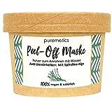 puremetics Zero Waste Peel-Off Maske'Anti-Unreinheiten - Mit Spirulina Alge' | 100% natürlich, vegan & plastikfrei | Naturkosmetik ohne Plastik | Für unreine, fettige Haut & Akne