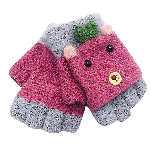Mitlfuny Invierno Calientes Grueso Unisex Chicos Guantes