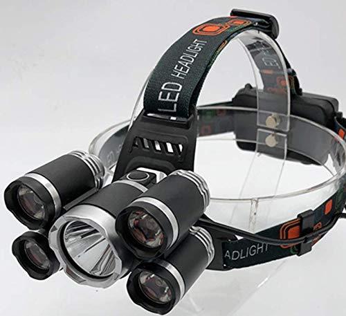 5 starke Scheinwerfer Hochleistungs-Außenbeleuchtung Kunststoff angenehmes Tragegefühl Scheinwerferlampen Nachtfischen Ladeschalter (Kunststoff Schutzhelm Für Kinder)