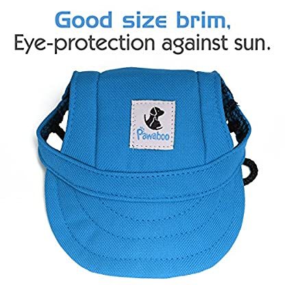 Pawaboo Dog Baseball Cap, Adjustable Dog Outdoor Sport Sun Protection Baseball Hat Cap Visor Sunbonnet Outfit with Ear… 4