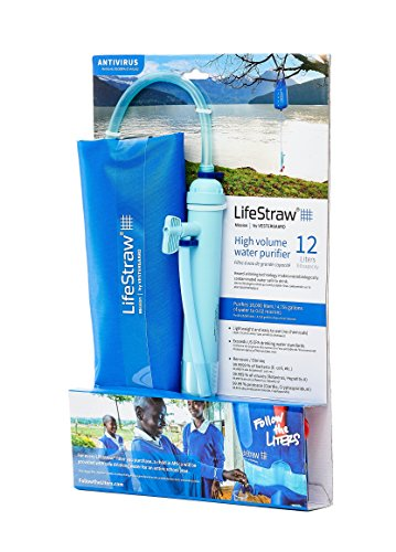 LifeStraw Mission  Kompakter Wasserreiniger mit Hohem Volumen (12 Liter) Filter, Blau, 12 liters - 8