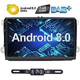 22,9 cm Android 8.0 Quad Core 2 GB Oreo autoradio 2 DIN navigatore satellitare video Player GPS navigazione supporta Bluetooth DAB + OBD2 per VW Volkswagen Seat Skoda Golf polo Jetta Passat Touran