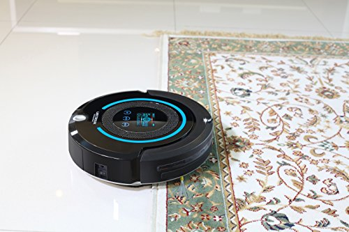 Liectroux Robot Vacuum Cleaner Multifunction(Sweep, Mop, Vacuum, Sterilization), LCD Touch Screen, Auto Charge, Schedule Cleaning Robot Vacuum A338