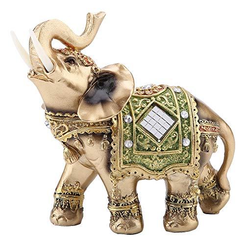 Neufday Estatua de Elefante Feng Shui con Soporte de Vela Tronco Mirando...
