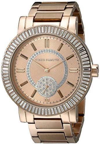 Vince Camuto VC/5198LRLR - Orologio da polso da donna, cinturino in acciaio inox colore oro rosa