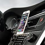Mpow Support téléphone voiture, Fixation à la fente de la lecture CD avec Rotation à 360°, Magnétique, Aimanté Universel pour iPhone 7 7Plus 6s 6s Plus 6 6 Plus, Nokia,Wiko,Huawei,Xiaomi,HTC,Sony et d'autres Appareils. [18 mois Garantie]