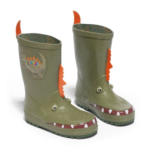 Kidorable Original Branded Dinosaur Rubber Kids Rain Boots, Wellies for Little Girls, Boys, Children, Toddlers